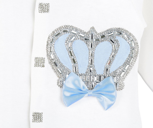 BabyBoy Royal Crown Jewels 4 Piece Set 0-3 M  Baby Blue