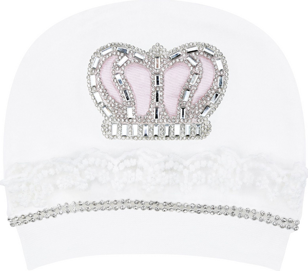 Baby Girl  Lace Detail Crown Jewels 3 Piece Pink Gift Set