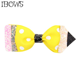 Glitter Pencil Hair Clip Handmade  SCHOOL Girls Hair Accessories