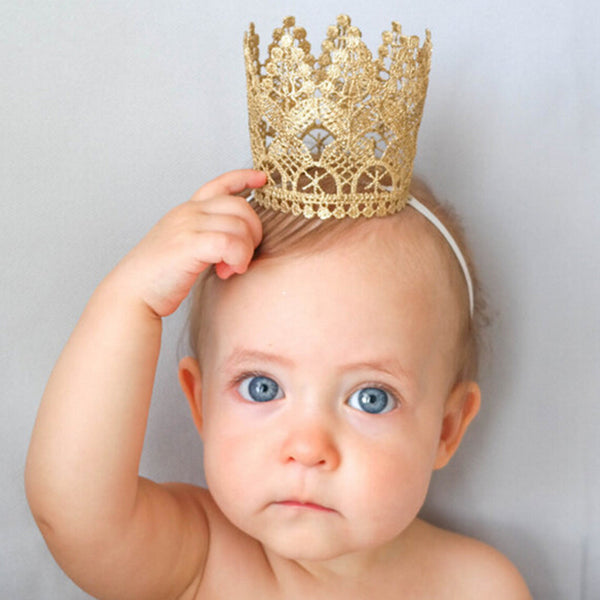 Baby Crown Headband Tiara Birthday Party Hair Accessories Baby Girls Kids Children Headwear Gifts