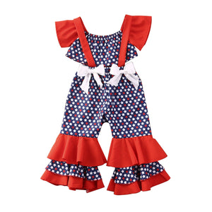 Mia 4th July Set Top Bow  2PCs