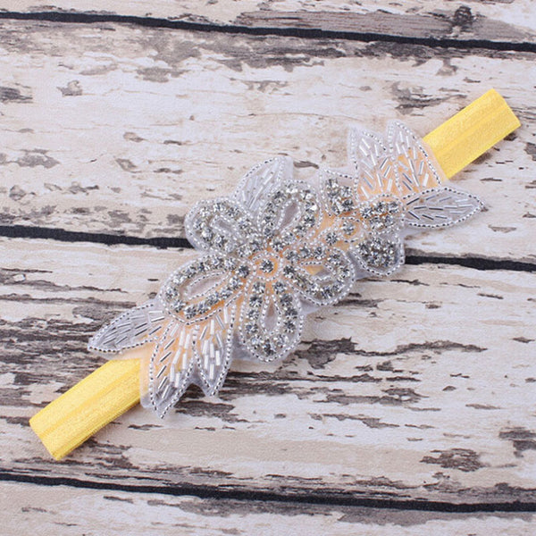 Fashion Newborn Pearl Flower Headband Rhinestone  Photo Props Princess Hair Accessories