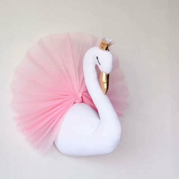 Lovely Golden Crown Small Swan Wall Hanging Decorations Kids Room Wall Decorative