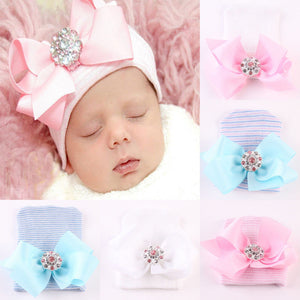 Newborn Babies Butterfly Knot knitted Warm Hats New Toddler Kids Girl&Boy Baby Infant Winter Bowknot Knit Hat Cute Beanie