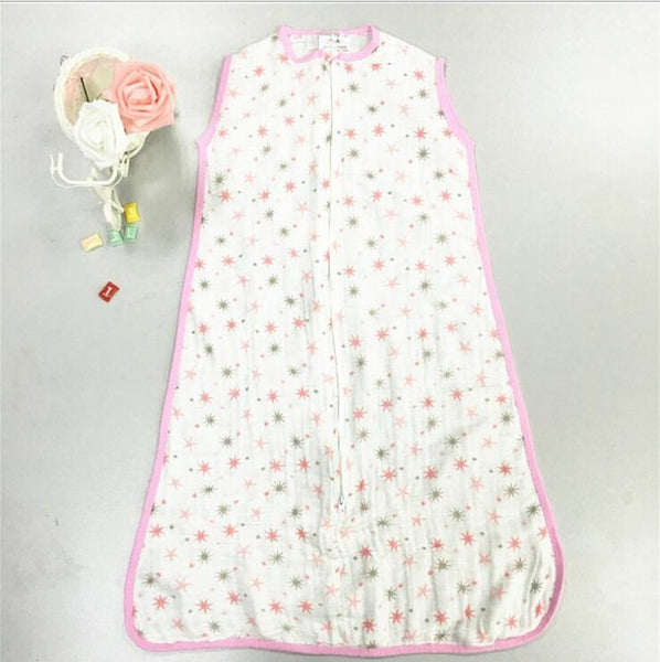 Summer Sleeping Bag Aden Anais Newborn 100% Muslin Cotton Single Layer Gauze Baby Sleeping Bag With Label 12-18 Month Baby Sacks