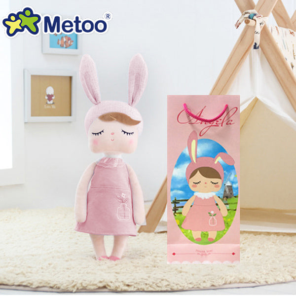 Boxed Angela Rabbit Plush Stuffed Animal Kids Toys for Girls Children Birthday Christmas Gift Metoo Doll