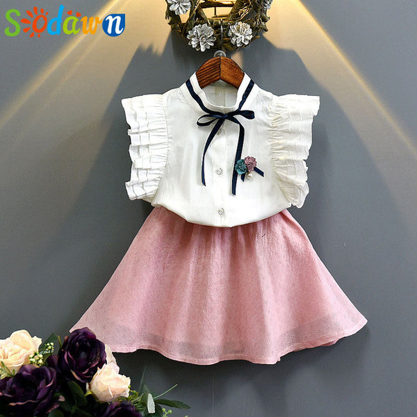 Girls Toddler Babygirl Clothing Set Summer Style Girls Clothes Cartoon Girls