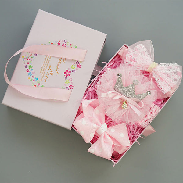 Baby Girls Hair Clip Big Bow Knot  Hairband Accessories in Box  3 pcs