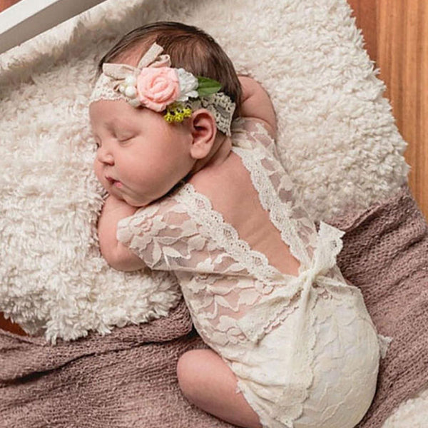 Newborn Photography Props Princess Lace Romper
