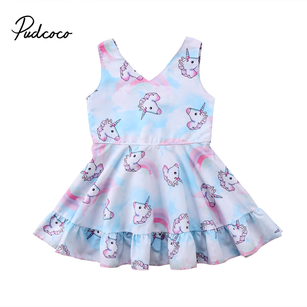 deb868e87 Summer Toddler Infant Child Kids Baby Girls Princess Dress Party ...