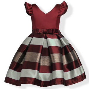 Kids clothes stripe Silk Party Dresses for Toddler Girl Children clothing Baby Girl Sleeveless tutu Princess Dress