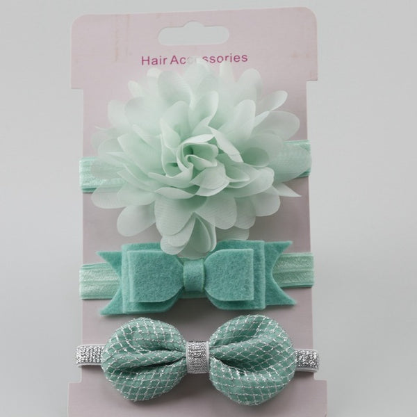 Hair  Accessories Fashion headdress Baby Girls  Headband three piece sets (Differents Styles)
