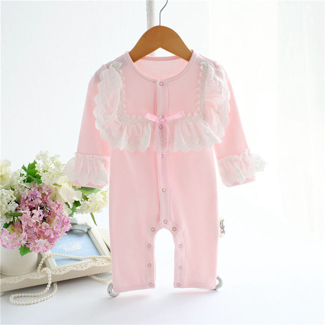 Lace Baby Romper Jumpsuit Long Sleeve