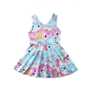 Fashion Kids Baby Girls  Fairy Unicorn Dress
