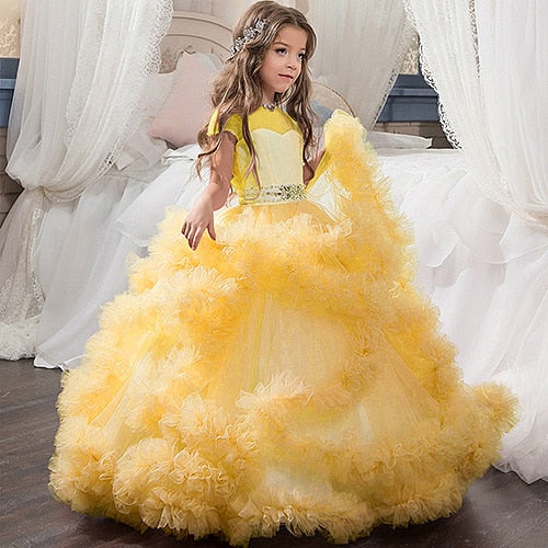 Hailey. Fancy Puffy Pink Pageant Dresses for Girls