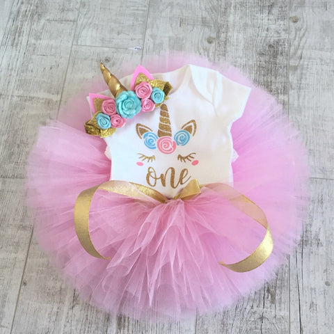 Unicorn Birthday Dresses For Girl Party Princess Girl