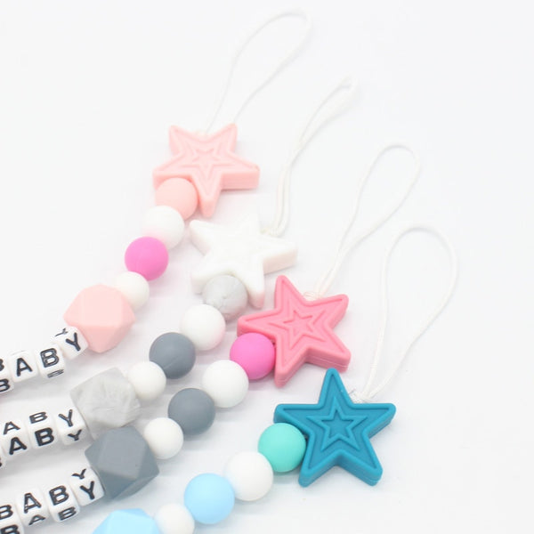 Personalized Name Silicone Baby Pacifier Clips for Baby Baby Shower Gift