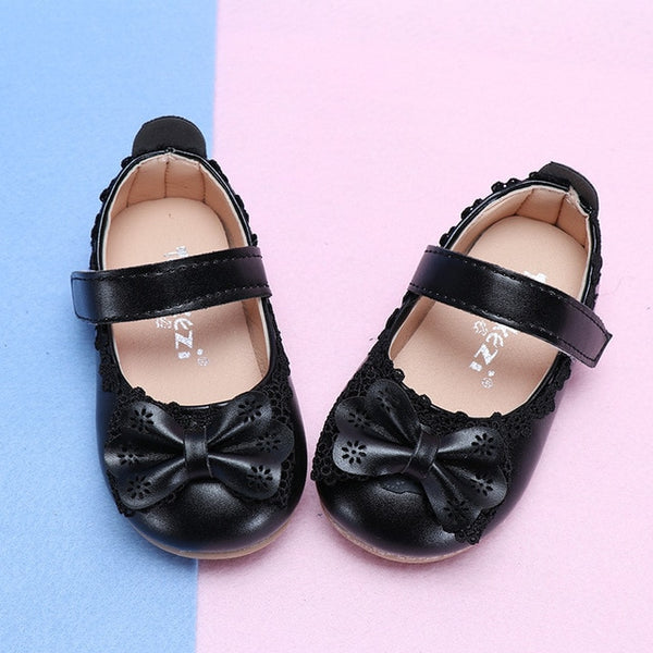 Girls Princess Shoes Non-slip Toddlers Shoes Bow Knot Sandals For Children Kids Party Shoes