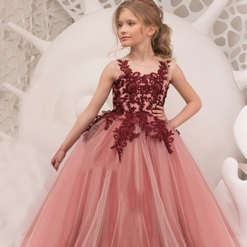 Brianna.Flower Girl  Princess Birthday Party Wedding Dress