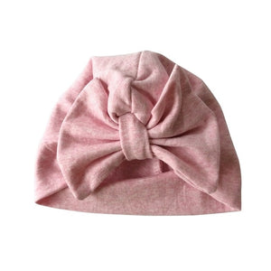 Baby Cap Cotton Big Bow Turban Hat  Fashion Style
