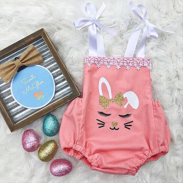 Baby Boutique Bunny Romper Ideal for Easter and Spring.