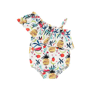 Swimwear Ruffles Fruit Swimsuit For Girls Summer Child Beachwear