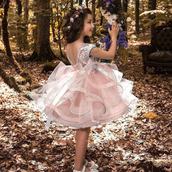 Toddler Princess Party Dress for Girls  Fluffy  Flower Girl Wedding