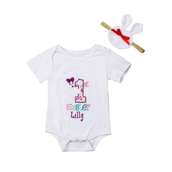 Baby First Easter Outfit Cute 0-18M