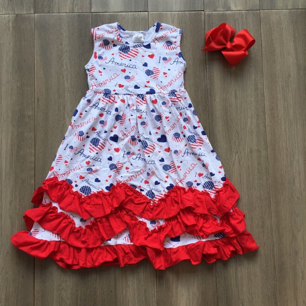 New July 4th Stars navy red ruffles boutique outfit