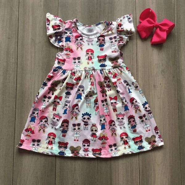 Summer hot new arrival RAINBOW dolls dress