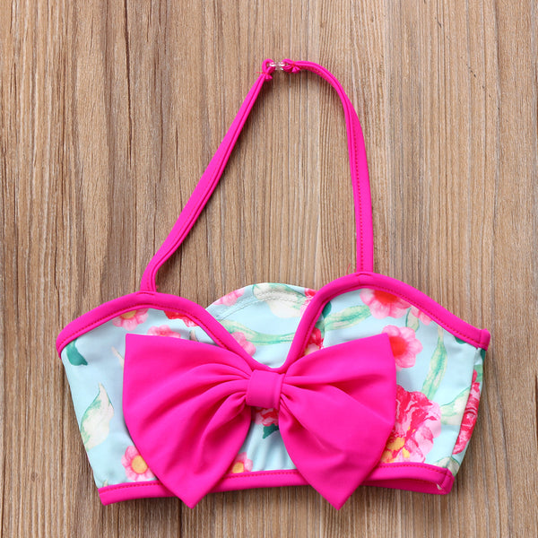 Fahion 3 Pieces Swimwear set for Girls Swimwear Floral Bikini with Cover up