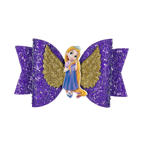 Princess Hairgrips Glitter Hair Bows with Clip  Girls Hair Accessories