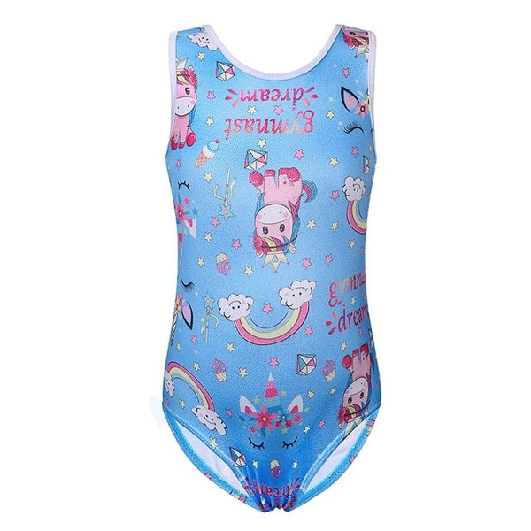 Toddler Girls Unicorn Leotard For Dance and Gymnastic