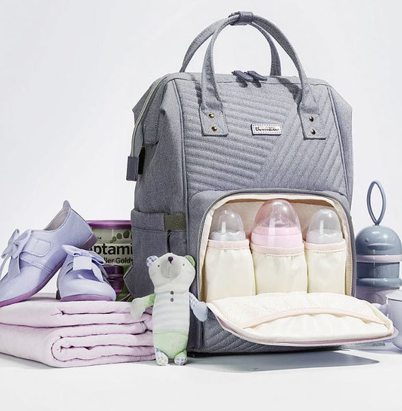 2019 New  Quilted Diaper Bag  Backpack