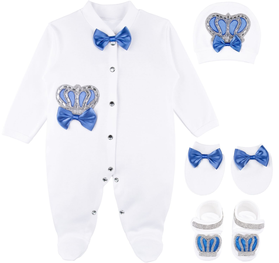 Royal Blue Take Home, Baby boy Hospital Outfit  0 to 3 Months  4 piece set. Great  baby gift
