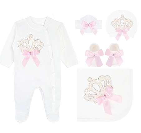 BabyGirl Royal Deluxe 5 Piece Set 0-3M