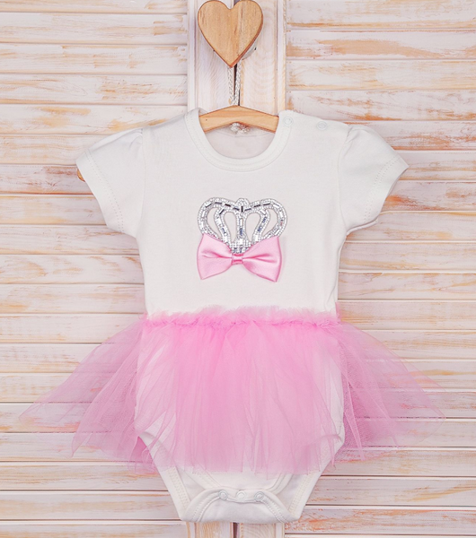 Baby Girl Jeweled Crown Tutu  3 Piece Set 0-3M   babyshower gift  take home