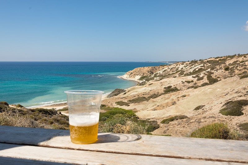 View of a beer over looking the sea