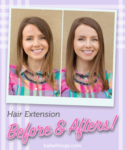 Hair Extension Before & Afters!
