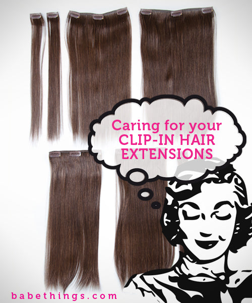 Caring for your Clip-In Extensions