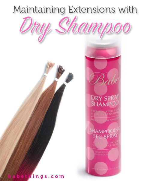 Maintaining Your Hair Extensions with Dry Shampoo