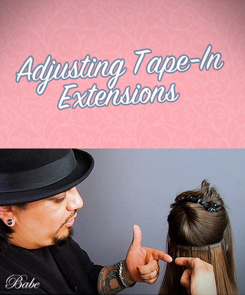 Adjusting Tape-In Extensions