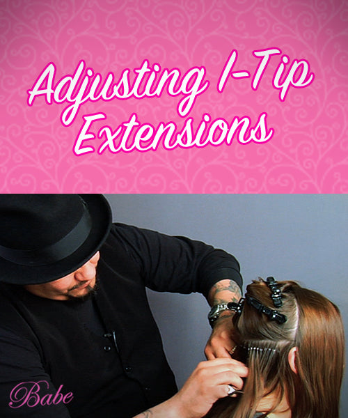Adjusting I-Tip Hair Extensions
