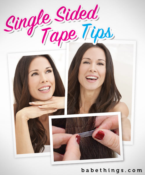 Single Sided Tape Hair Extension Tips