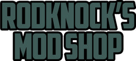 Rodknock's Mod Shop logo for Chris Rudnik's apparel brand and webstore