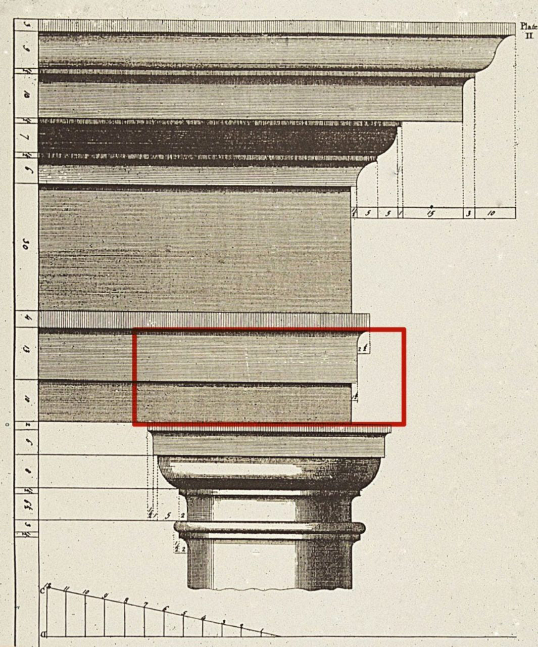 Architrave Illustrated Example - Glossary Image from Brockwell Incorporated