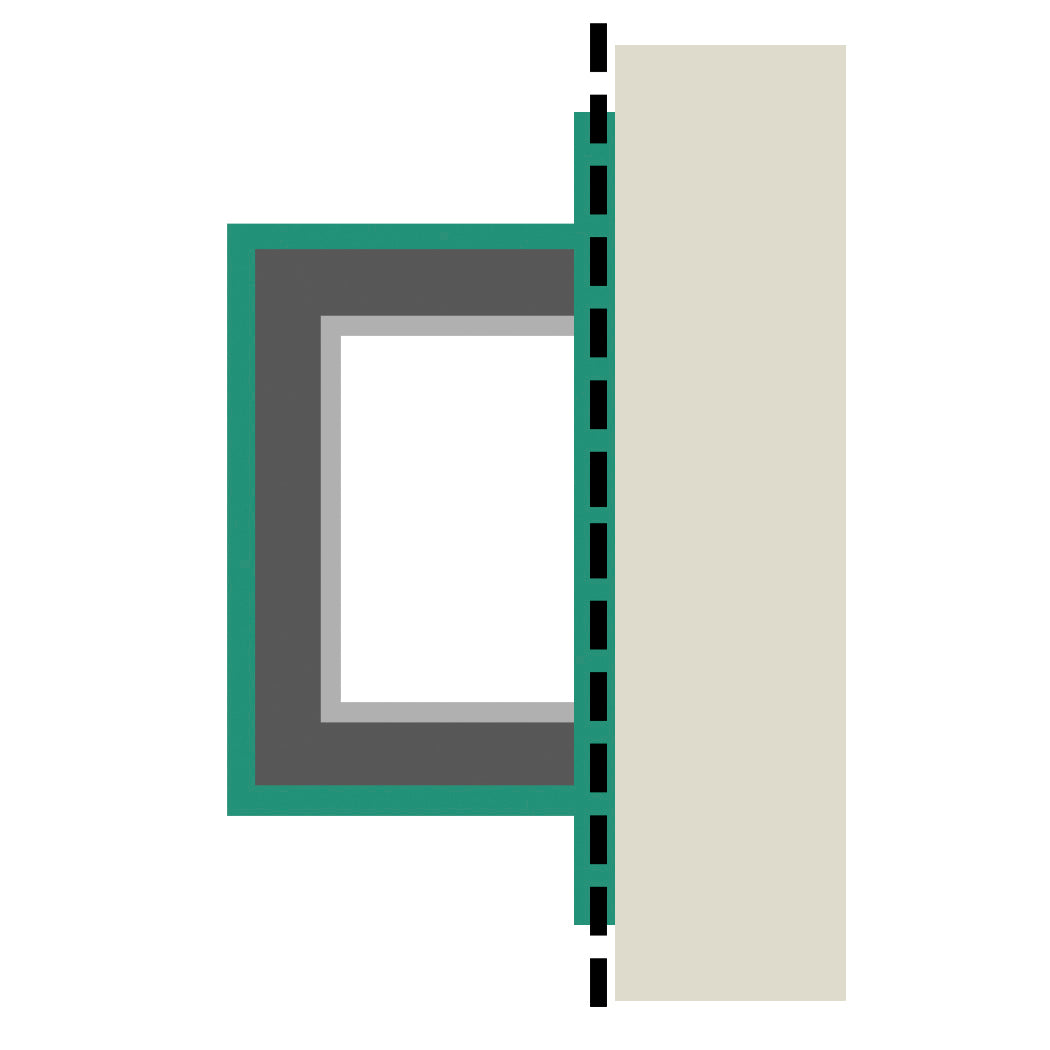 Brockwell Columns - Plan Shape M - 2/3 Square