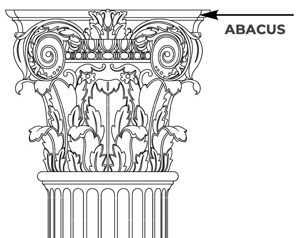 Column Capital Abacus Diagram/Drawing - Brockwell Incorporated - ColumnsDirect.com