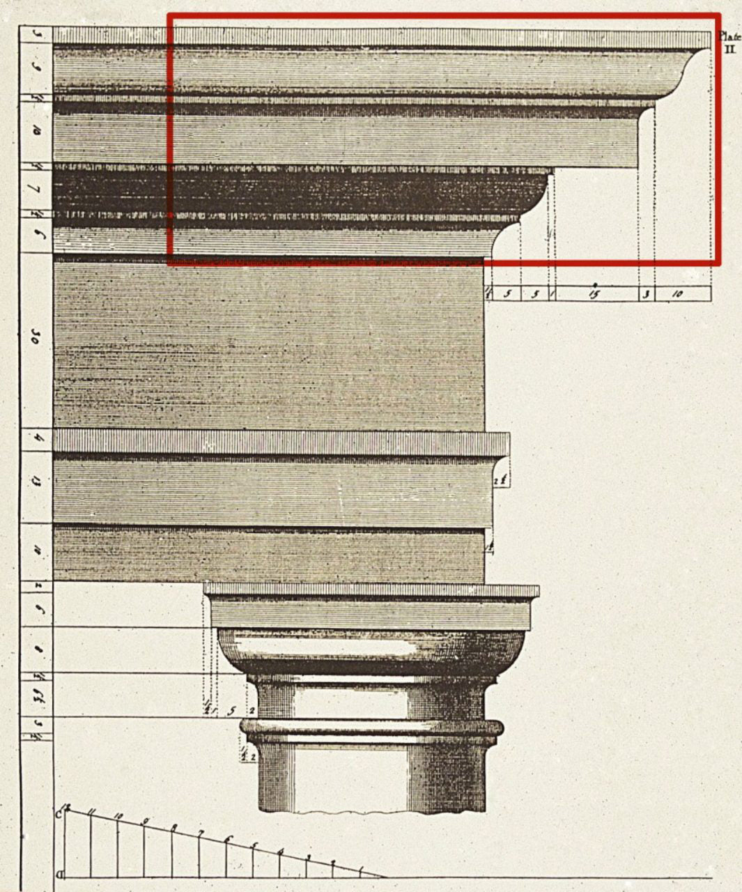 Cornice Example - Classical Architectural Illustrated Definitions by ColumnsDirect.com