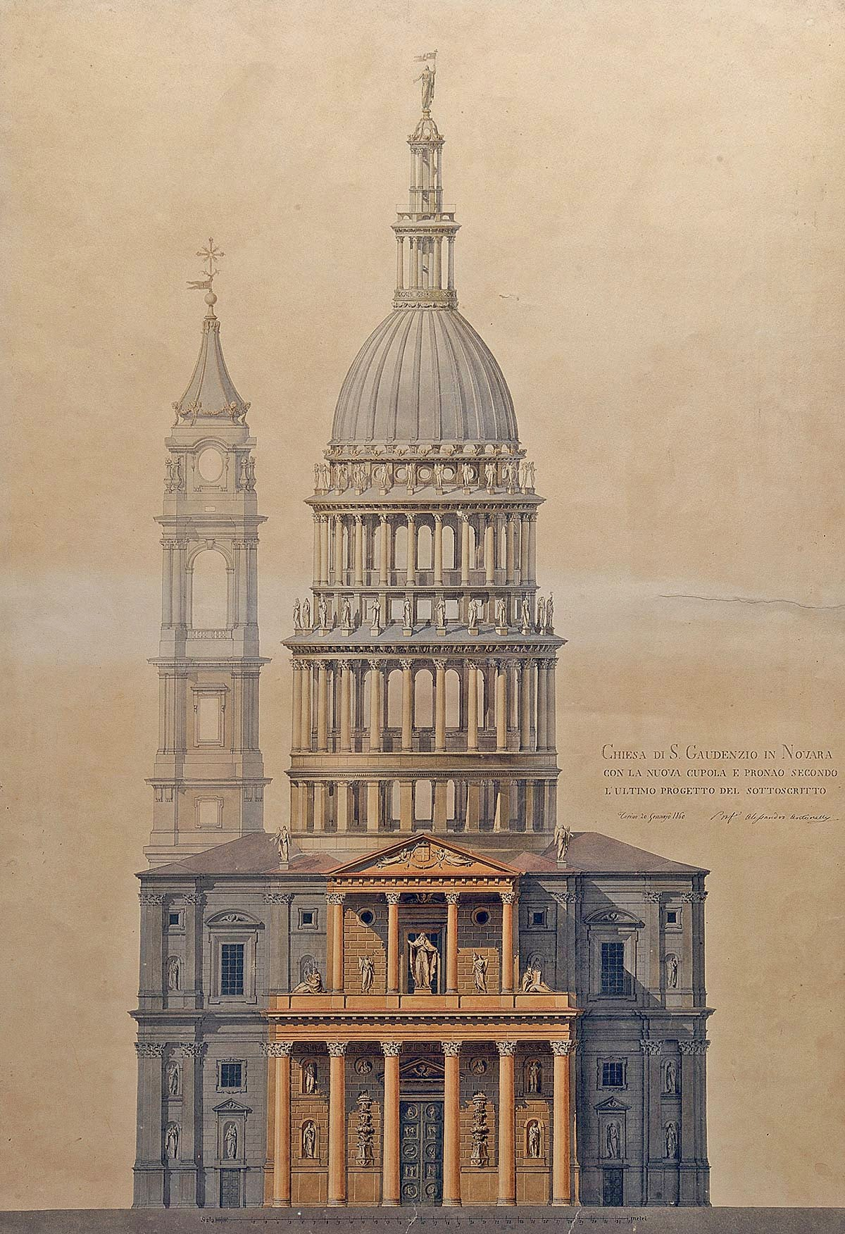 colorful classical sketch of a cupola for brockwell incorporated's illustrated glossary